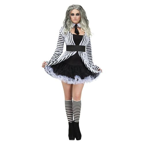 Ladies Ghostess Adult Female Costume for Halloween Fancy Dress Womens